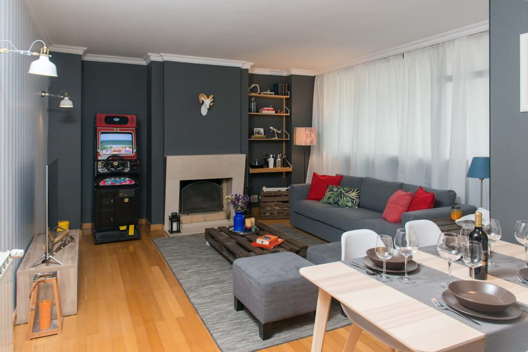 Sala Estar Salas de estar modernas por Rita Salgueiro - Full Ideas Moderno