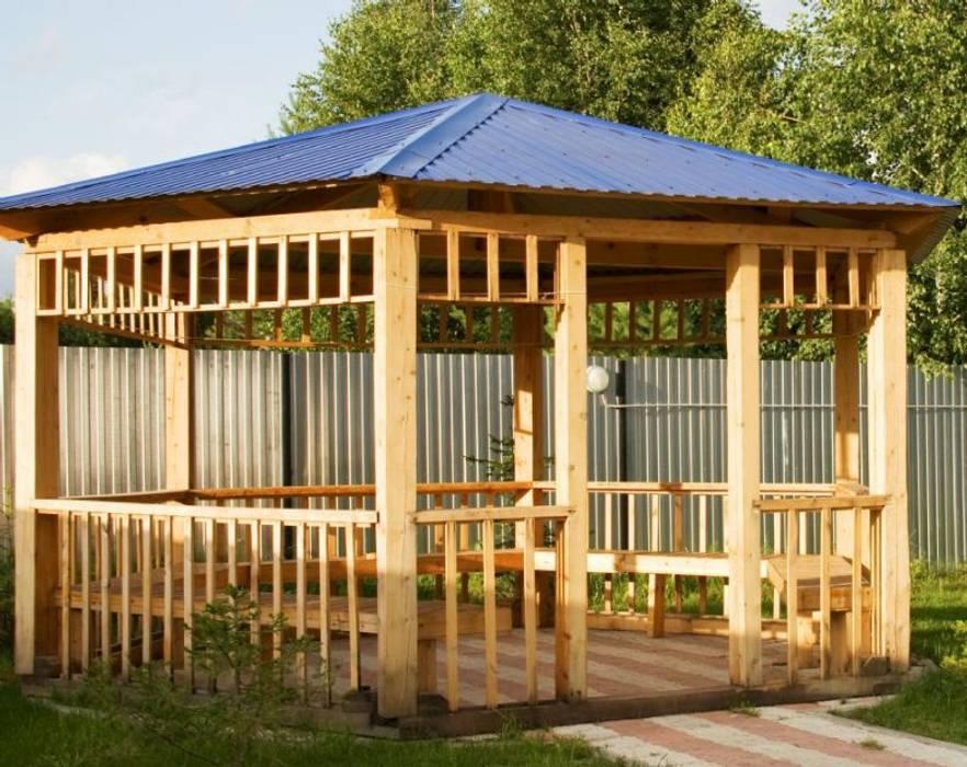 AHŞAP SEPETİ – AHŞAP KAMELYA ÖRNEKLERİ:  tarz Bahçe kulübesi, Tropikal Ahşap Ahşap rengi