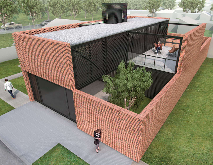 CASA PATIOS - Autores: Estudio Mauricio Morra Arquitectos : Casas de estilo  por Mauricio Morra Arquitectos