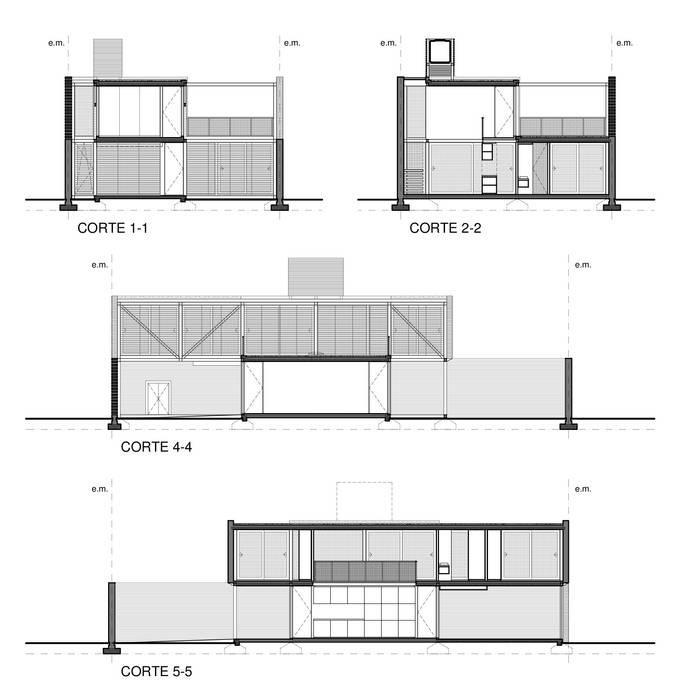 CASA PATIOS - Autores: Estudio Mauricio Morra Arquitectos: Casas de estilo  por Mauricio Morra Arquitectos
