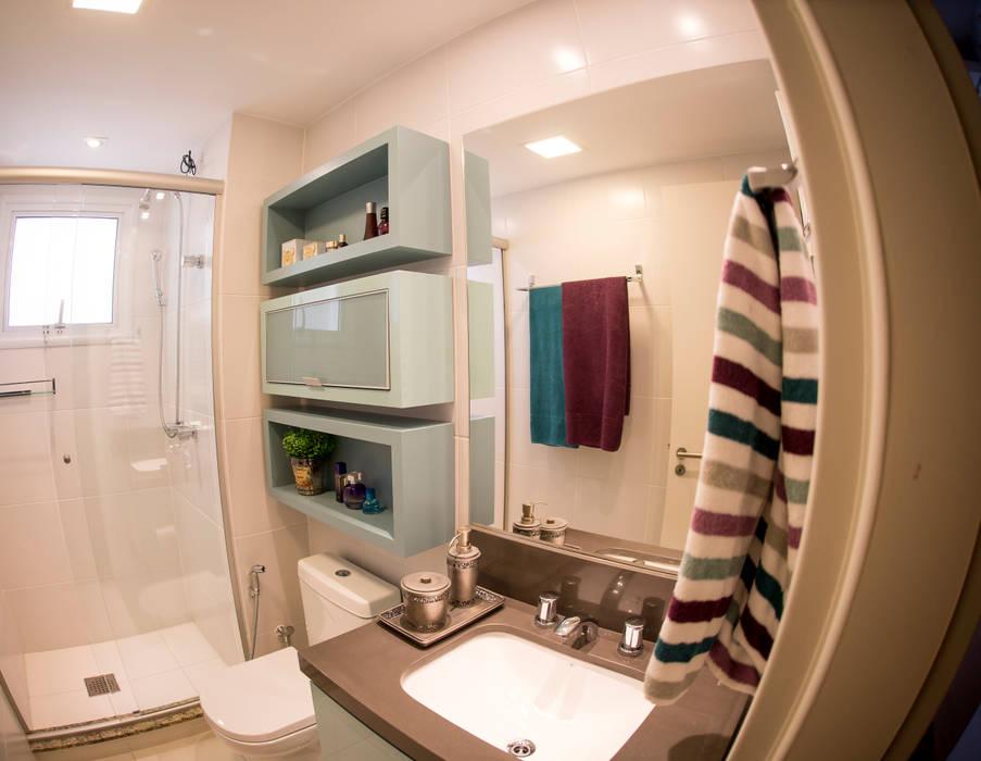 Banho Social - Novo Higienópolis I: Banheiros  por INOVA Arquitetura
