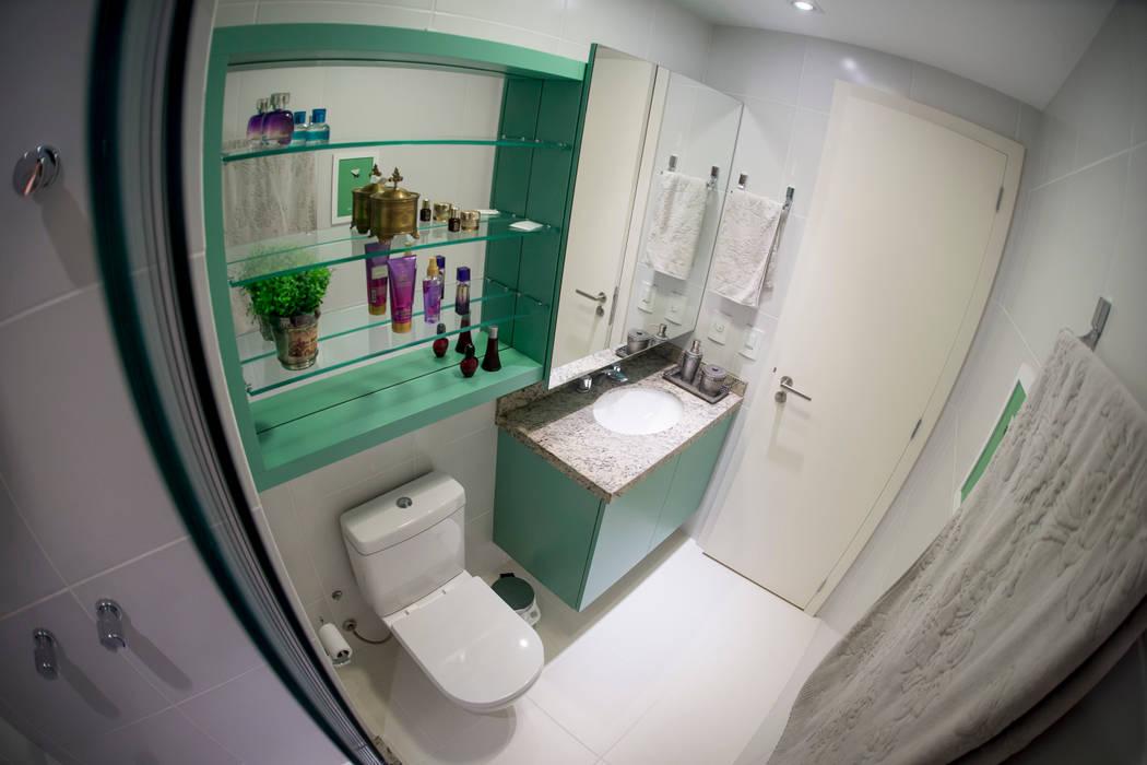 Banho Social – Novo Higienópolis II: Banheiros  por INOVA Arquitetura