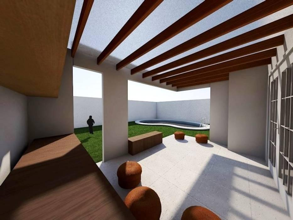 Remodelación de casa( cocina y terraza) en Providencia, Santiago.- Balcones y terrazas modernos de SoLazuL arquitectos Moderno Cerámico