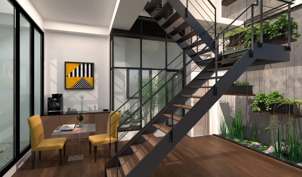 豐原節能綠建築:  商業空間 by 台中室內建築師 利程室內外裝飾 LICHENG, 現代風