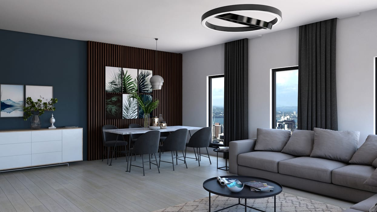 Modern living room by Dündar Design - Mimari Görselleştirme Modern