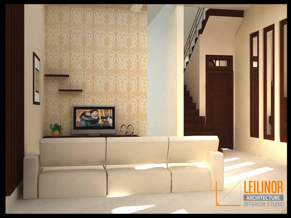 Modern Minimalist House Ruang Media Modern Oleh CV Leilinor Architect Modern