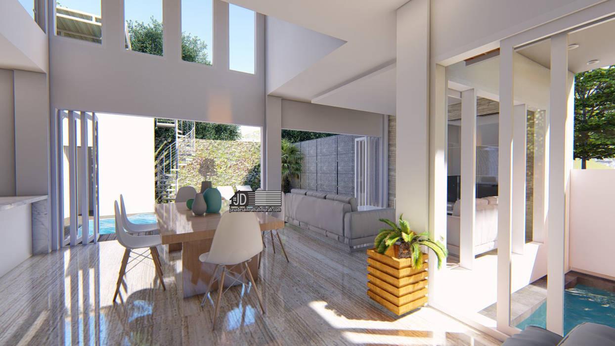 Desain Rumah Modern Bapak Barik Di Malang: Ruang Ganti oleh Wahana Utama Studio, Modern Keramik