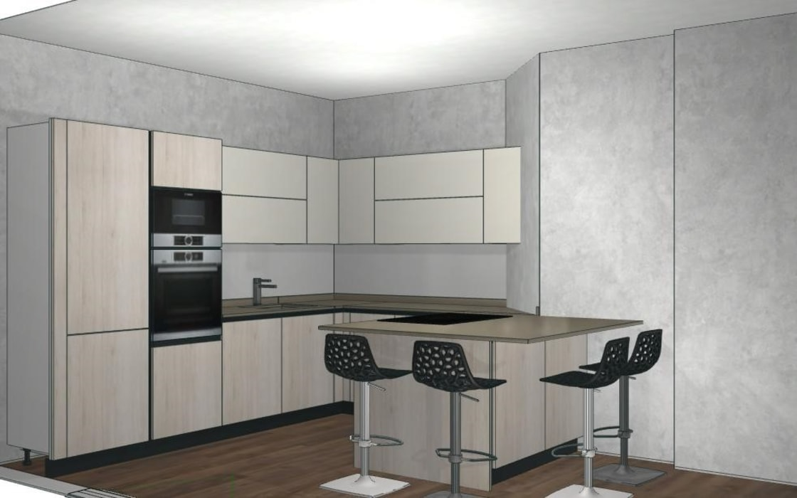 Cucina rovere bianco e laccato bianco: cucina in stile di formarredo ...