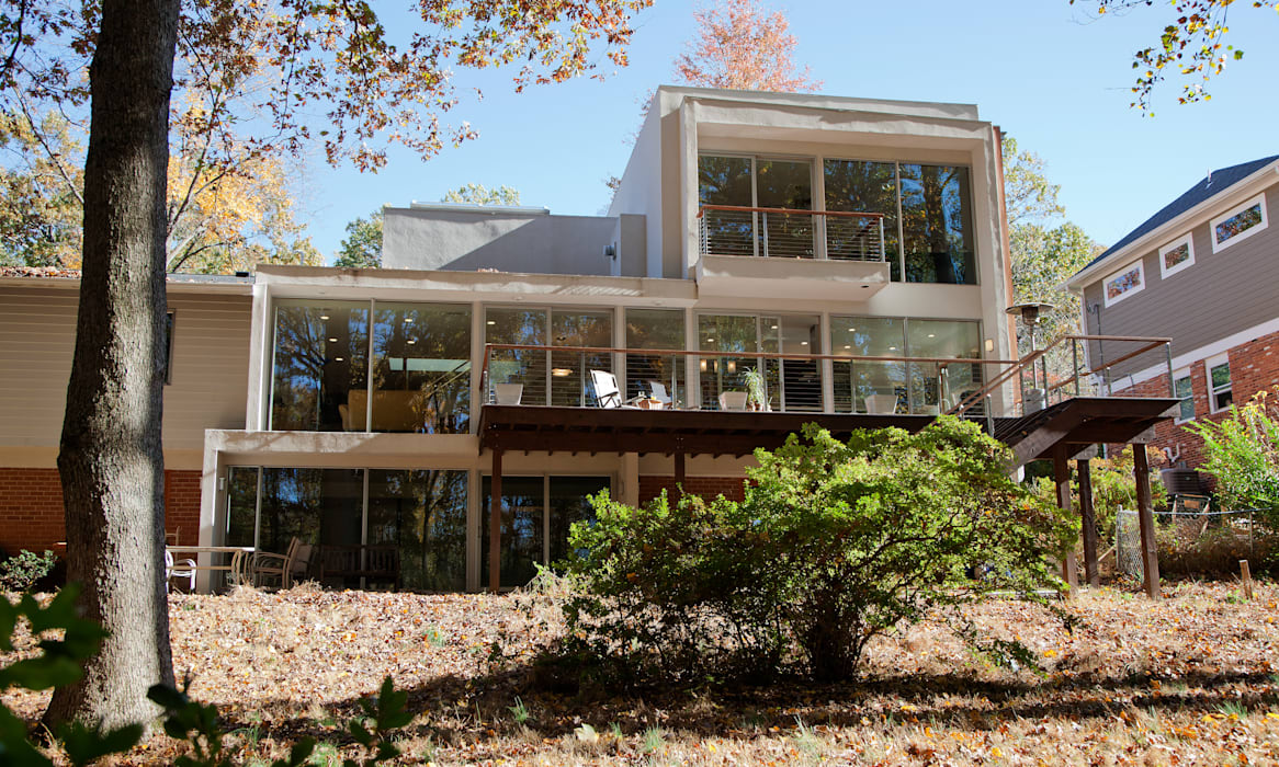Liberberg House Modern Houses by RT Studio, LLC Modern Glass