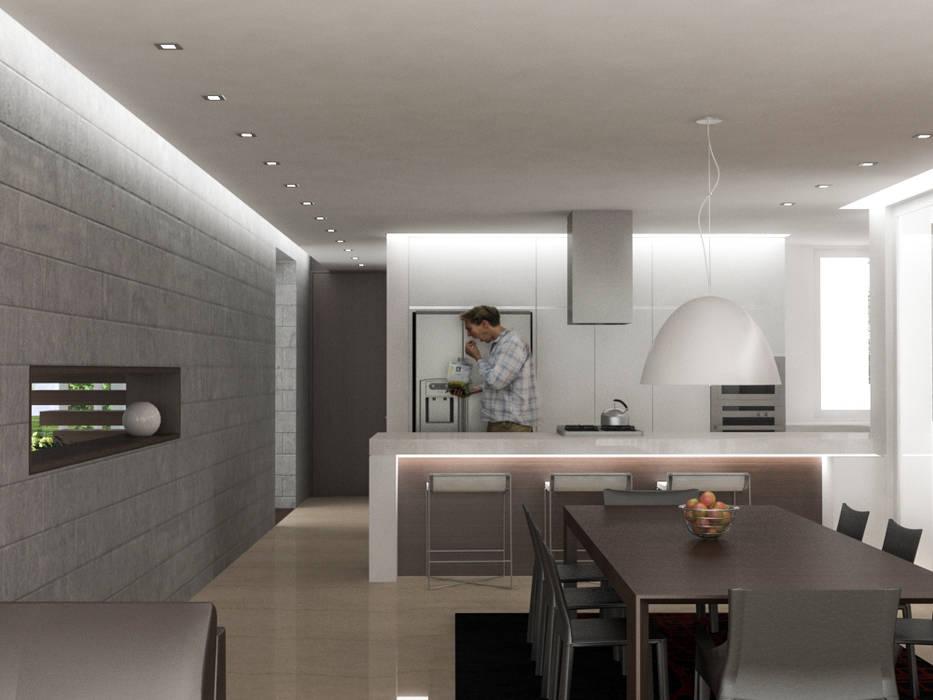 5 Casas en Miami: Comedores de estilo  por RRA Arquitectura, Minimalista Madera Acabado en madera