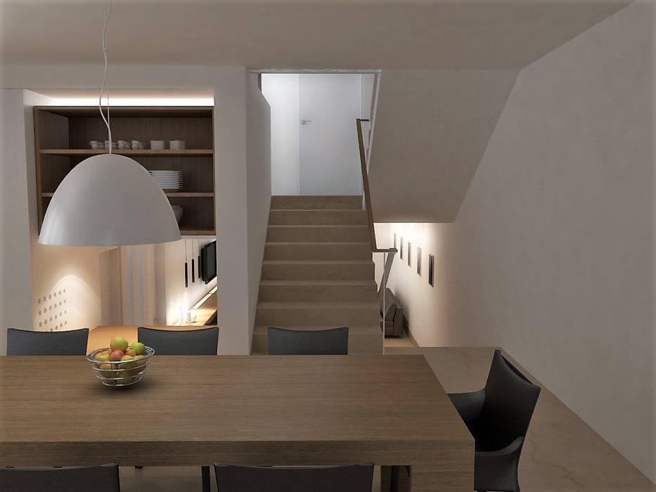 Lomas de Las Mercedes: Comedores de estilo  por RRA Arquitectura, Minimalista Madera Acabado en madera
