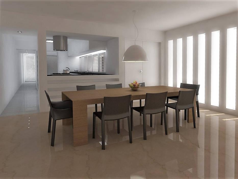 Lomas de Las Mercedes Comedores de estilo minimalista de RRA Arquitectura Minimalista Mármol