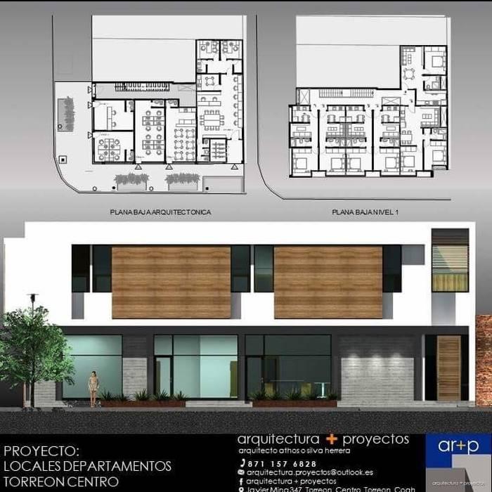 Locales + Departamentos TC arquitectura+proyectos Espacios comerciales de estilo minimalista Concreto Blanco