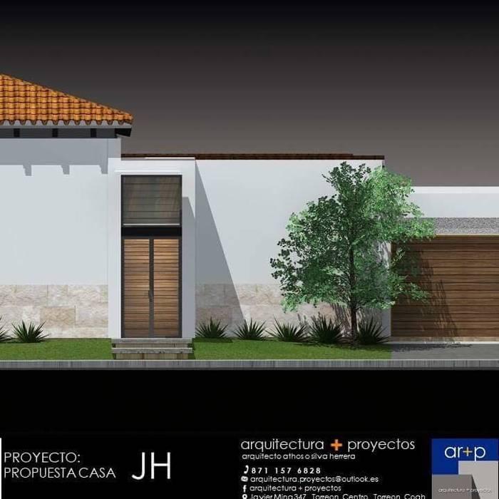 arquitectura+proyectos Casas modernas Concreto reforzado Blanco