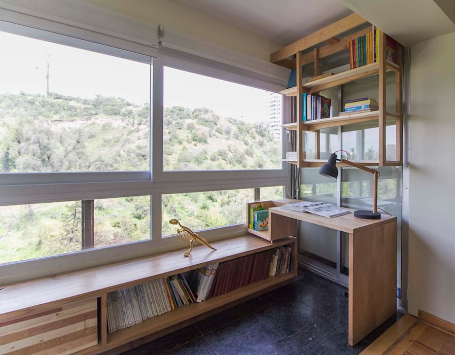 Muebles Luz:  de estilo  por Crescente Böhme Arquitectos, Moderno Madera maciza Multicolor