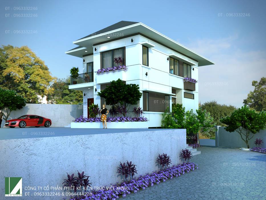 BIỆT THỰ HIỆN ĐẠI 2 TẦNG . THÀNH PHỐ HÀ TĨNH .:   by công ty cổ phần Thiết kế Kiến trúc Việt Xanh
