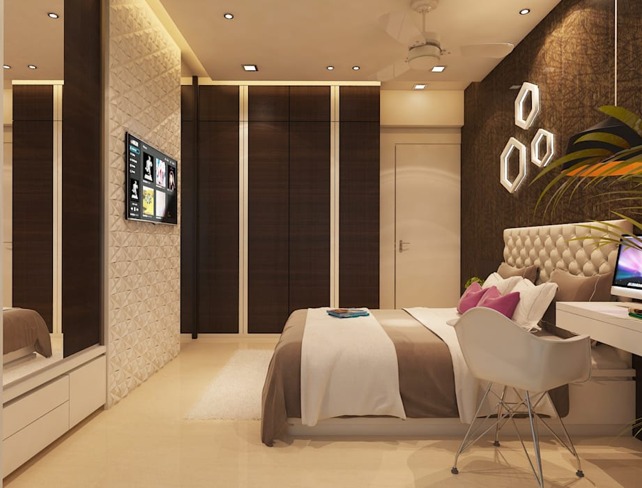 Master bedroom :  Bedroom by N design studio,Minimalist