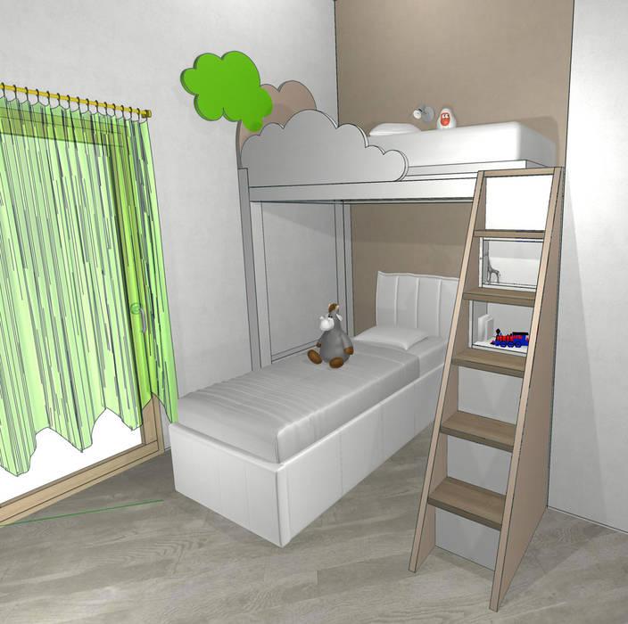 Letto a soppalco: camera da letto in stile di essenza legno | homify