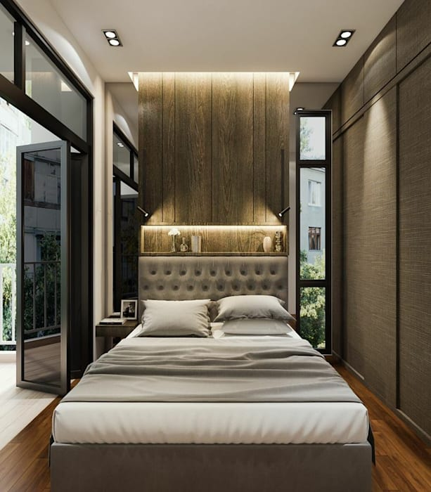Touch Of Luxury Modern Style Bedroom By Singapore Carpentry