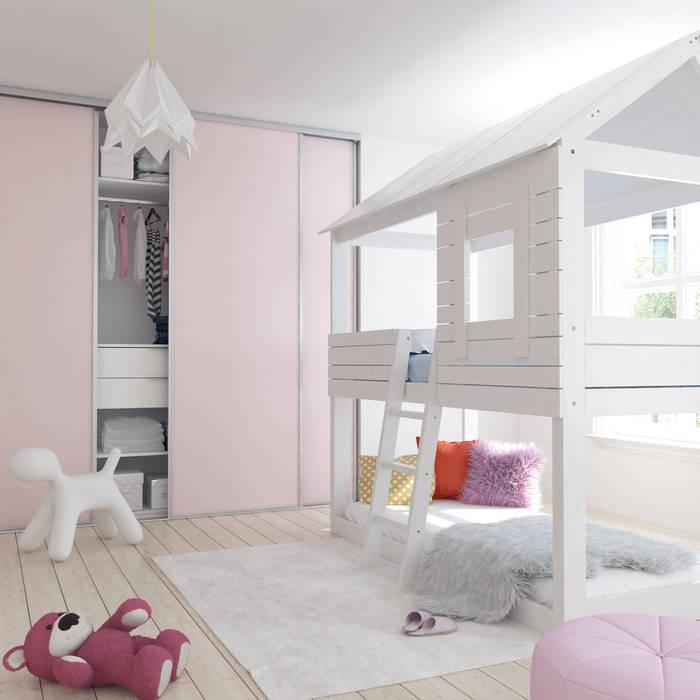 Coulidoor – chambre enfant rose poudre: dressing de style par archi ...