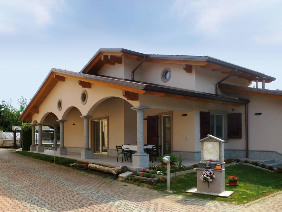 Villa classica in legno case in stile di marlegno homify for Foto casa classica