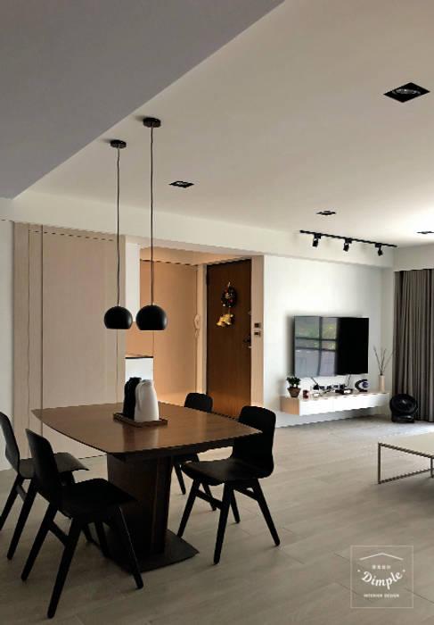 酒窩設計 Dimple Interior Design Modern dining room Wood-Plastic Composite Wood effect