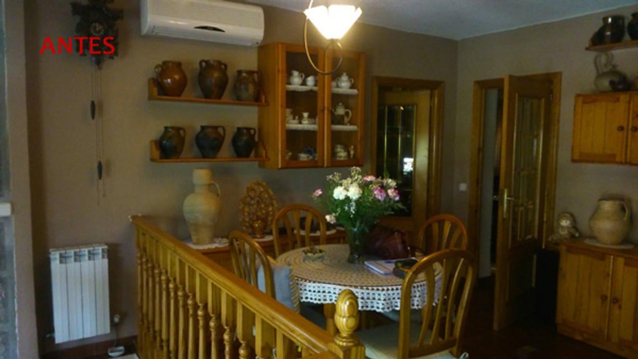 Almudena Madrid Interiorismo, diseño y decoración de interiores ห้องนั่งเล่น