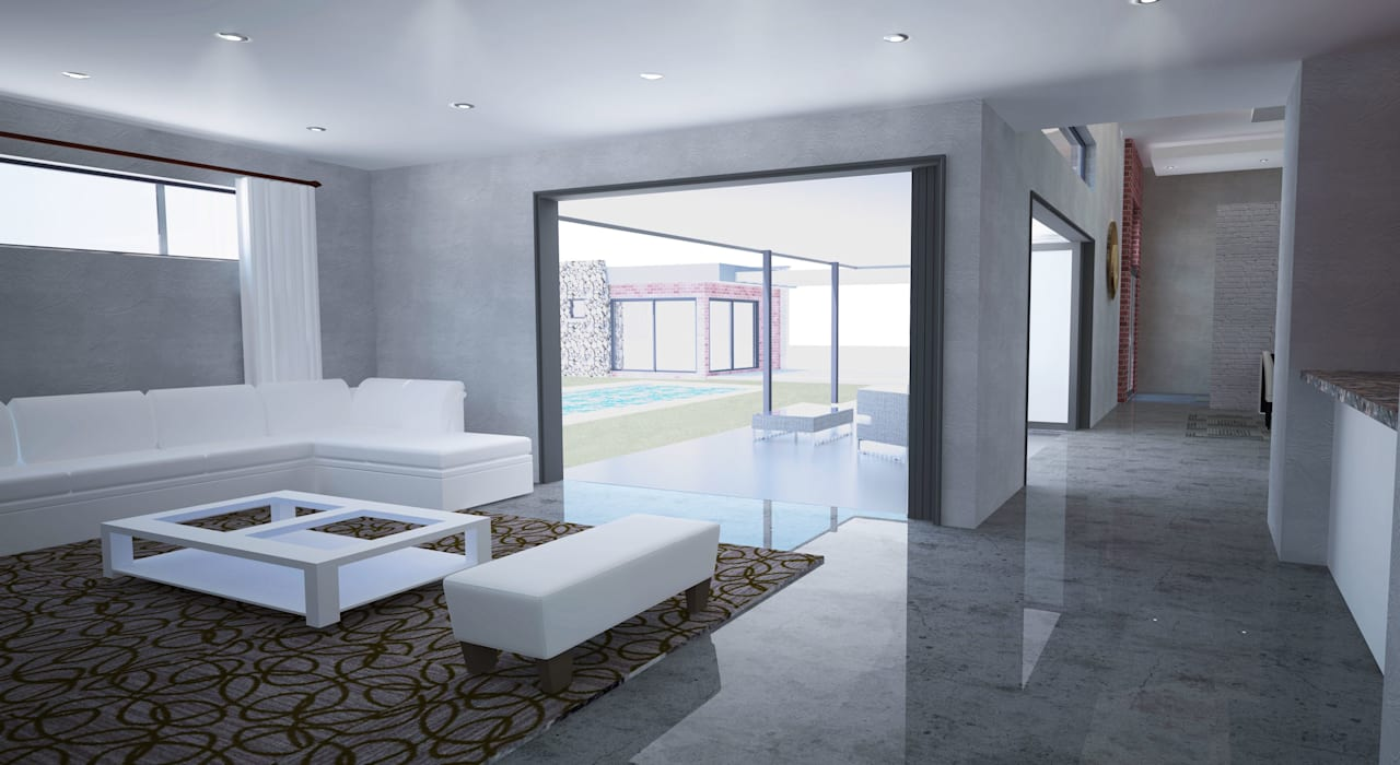 New Living Room Modern living room by A4AC Architects Modern Ceramic
