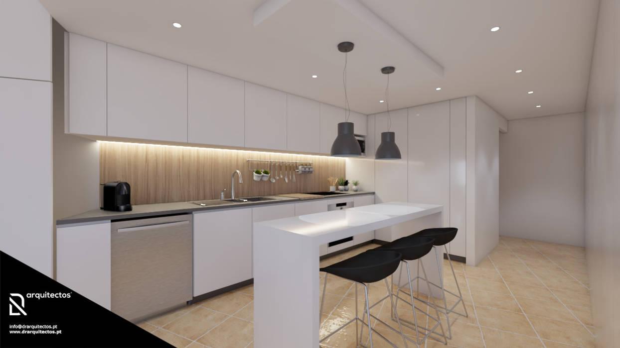 Casa na Freiria | Design Interior: Cozinhas  por DR Arquitectos ,Minimalista