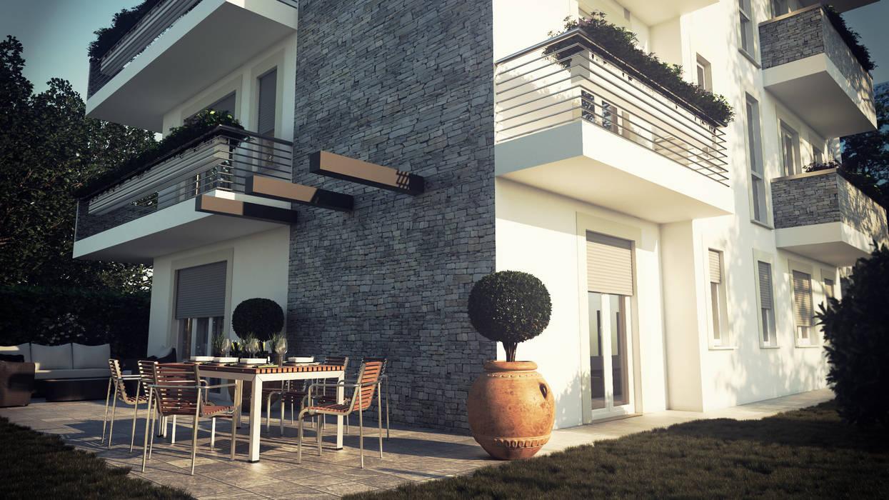 Residenza Mazzini: Condominio in stile  di Studio Corbetta architettura e design