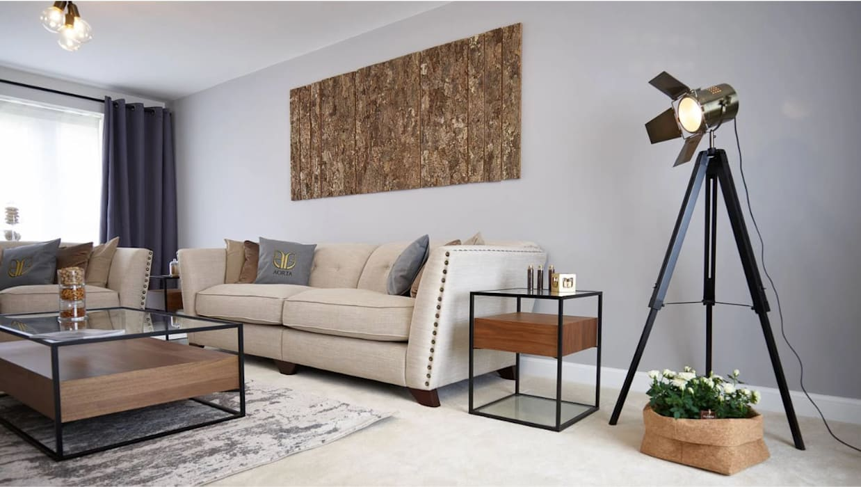 The Modern Living Room :  Living room by Aorta the heart of art