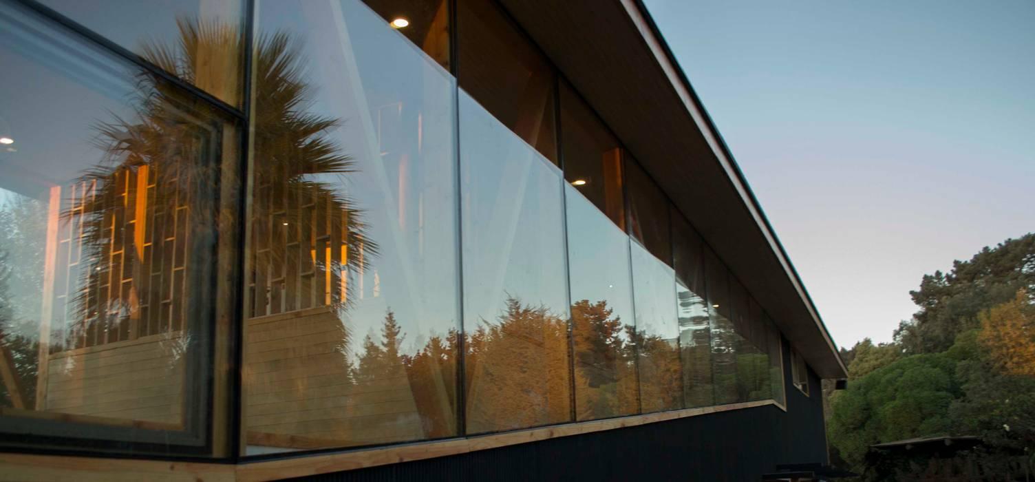 Muro Cortina jardin Casas estilo moderno: ideas, arquitectura e imágenes de PhilippeGameArquitectos Moderno Vidrio
