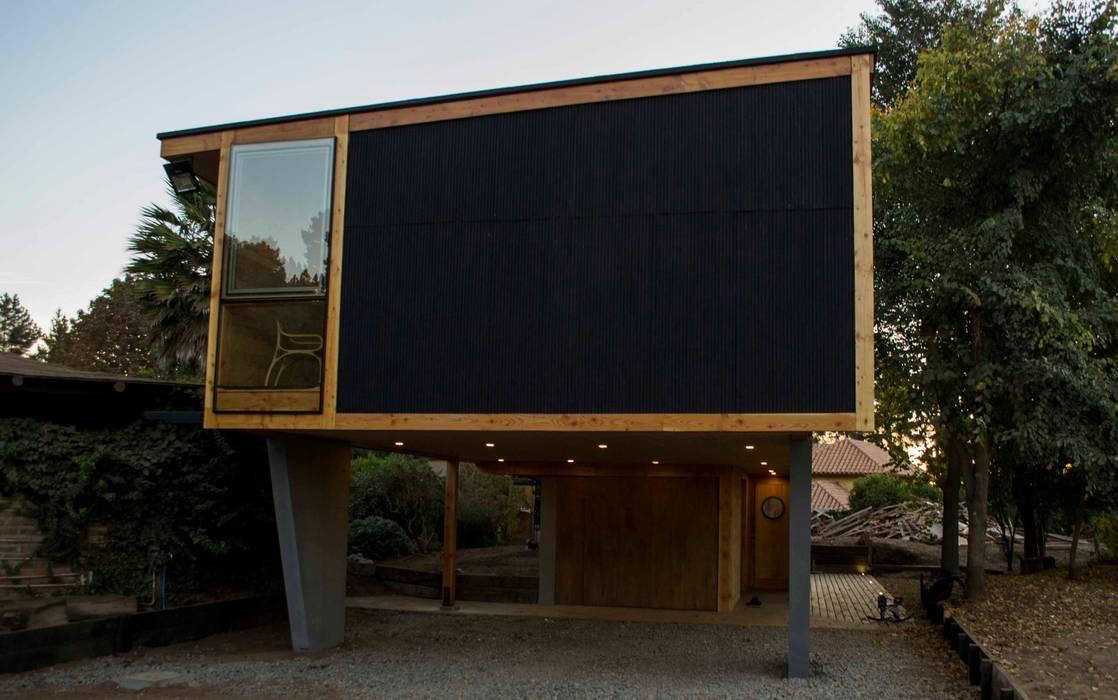 Fachada SurEste Casas estilo moderno: ideas, arquitectura e imágenes de PhilippeGameArquitectos Moderno Aluminio/Cinc