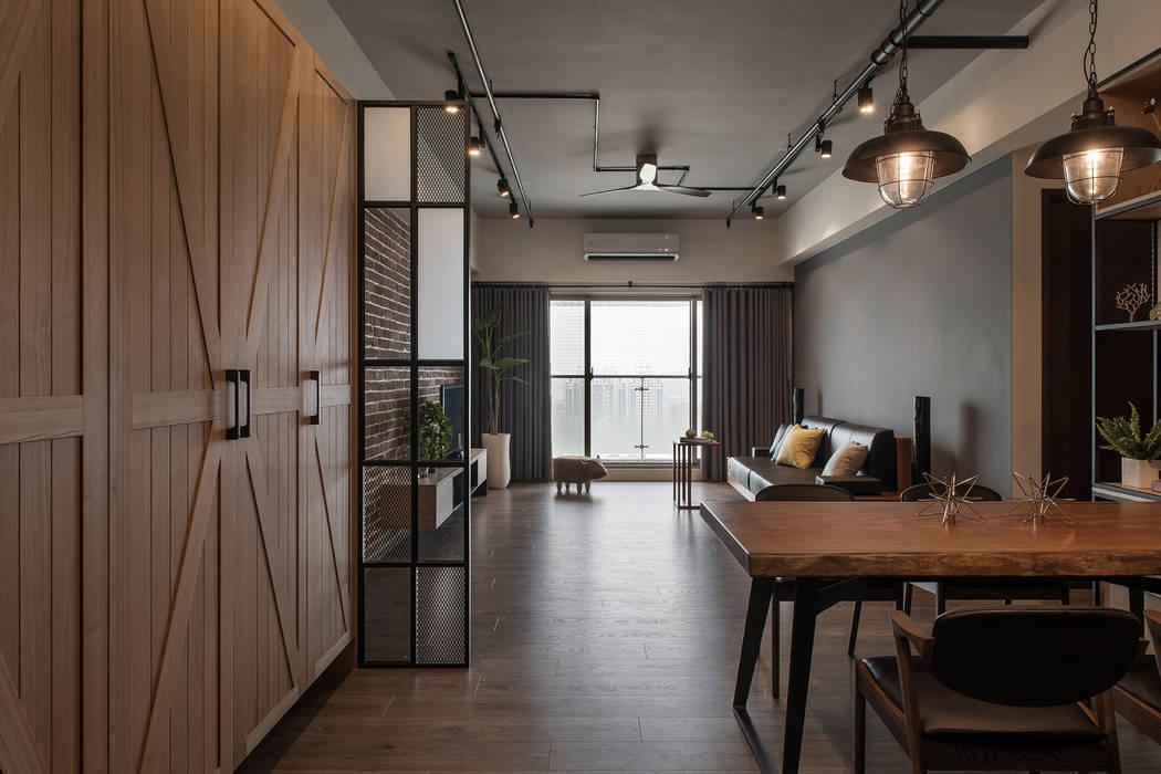 اتاق غذاخوری توسط詩賦室內設計, صنعتی