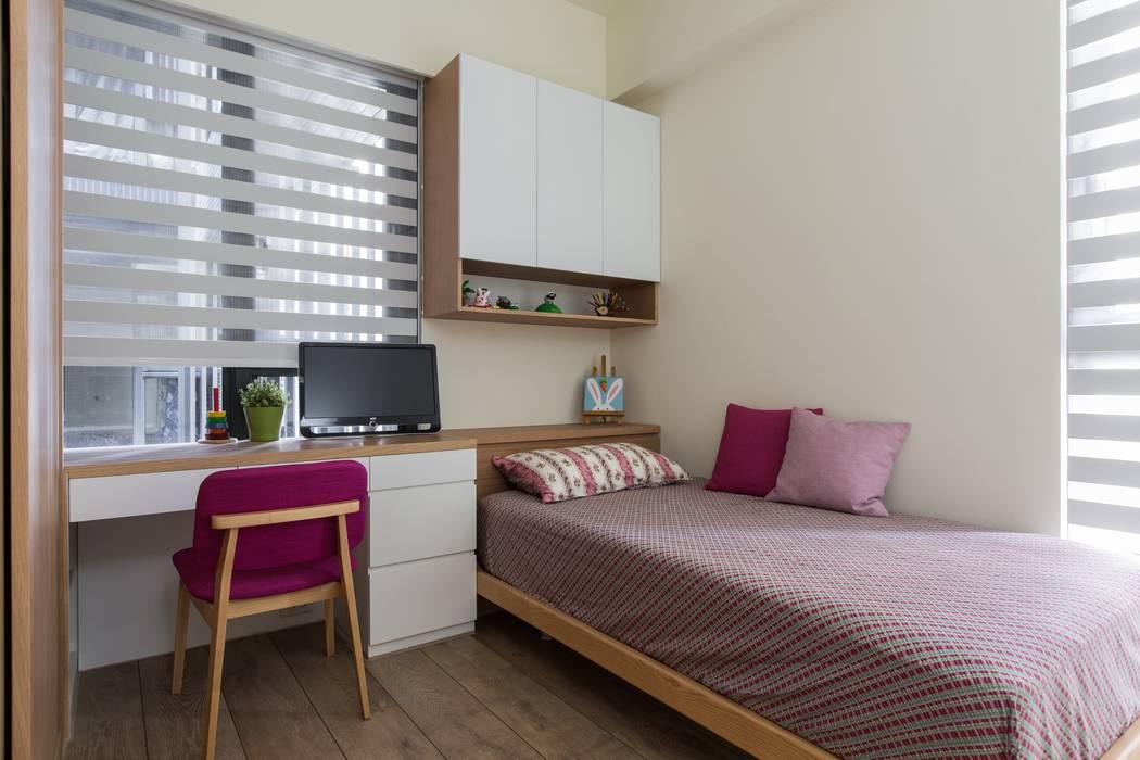 暖心:  臥室 by 詩賦室內設計, 北歐風