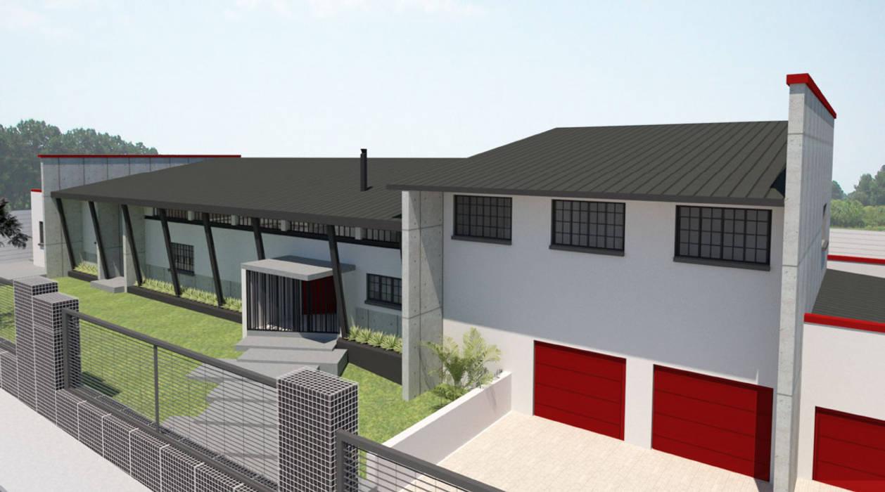 Single family home by A4AC Architects, Modern Bricks