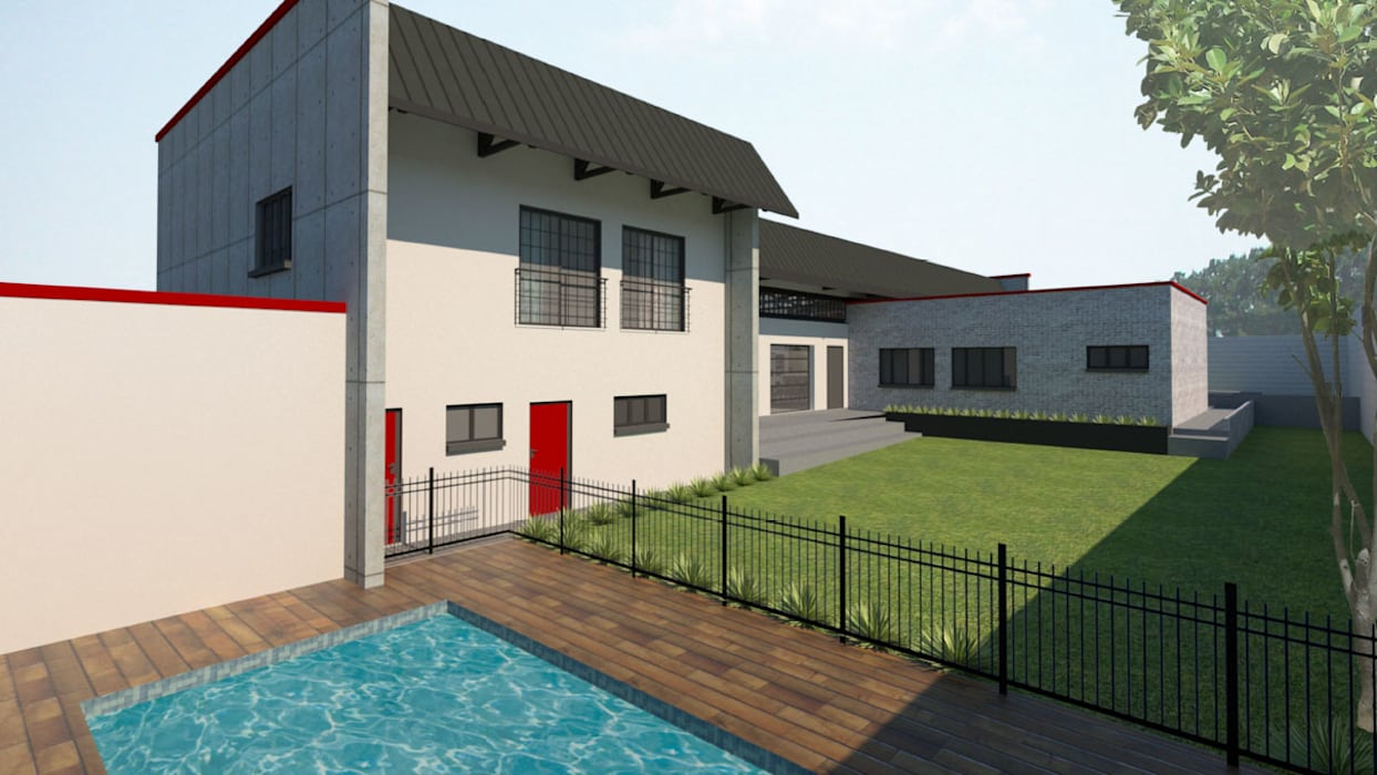 Swimming Pool by A4AC Architects Modern Bricks
