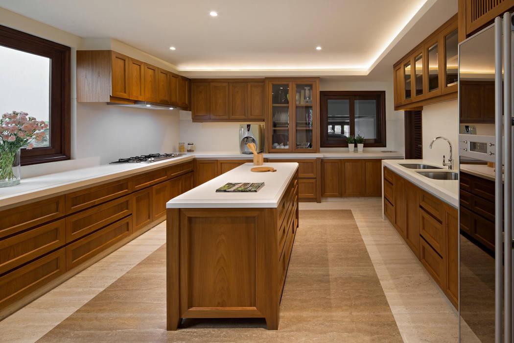 Dapur Dapur Klasik Oleh ARF interior Klasik Kayu Wood effect