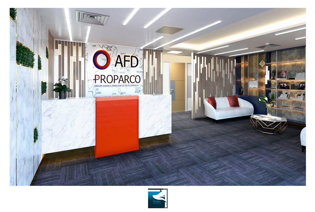ฺฺInterior Design : AFD & Proparco Office:  อาคารสำนักงาน by Blufox eco-solution Co., Ltd.