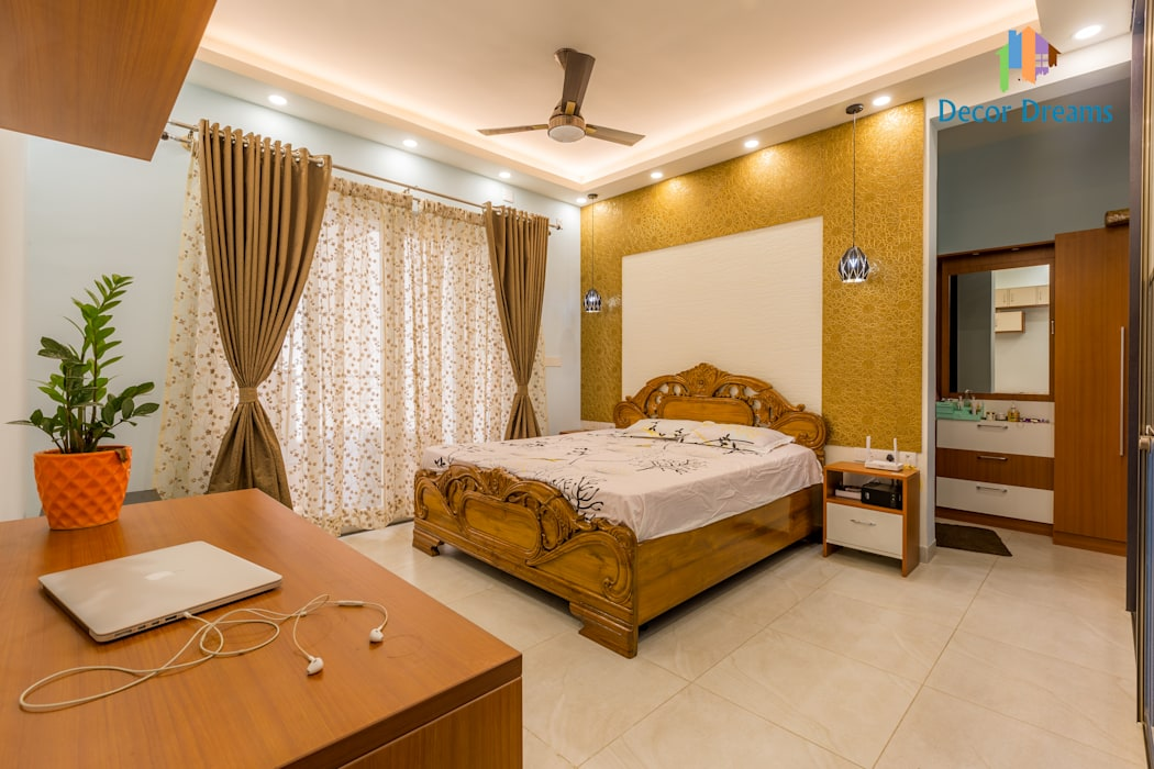 Vaishnavi Terraces, 3 BHK - Ms. Supriya Modern style bedroom by DECOR DREAMS Modern