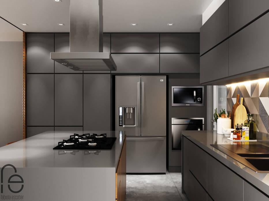 Cozinha integrada Cozinhas modernas por homify Moderno
