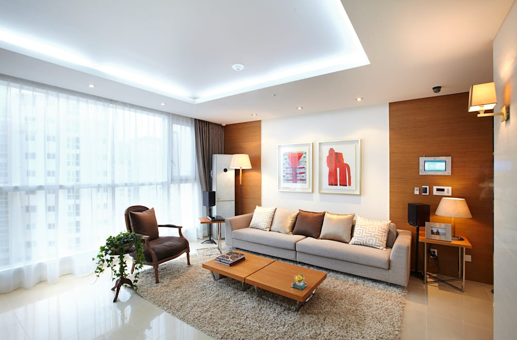 homify Modern living room White