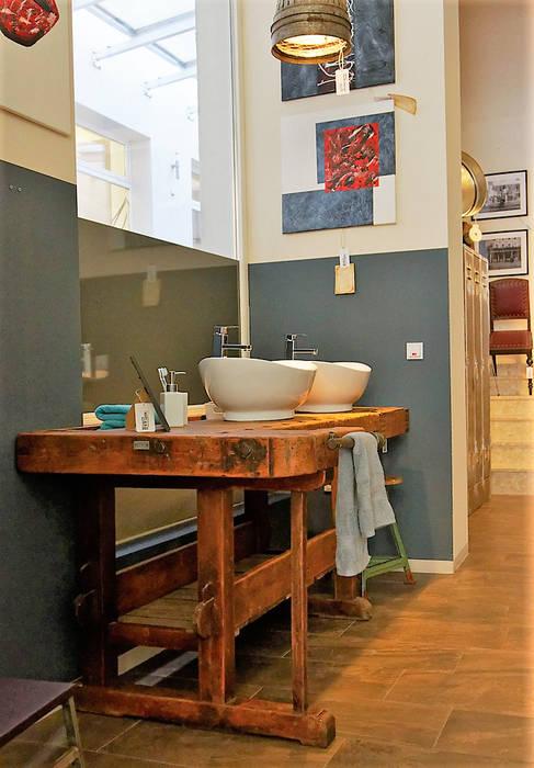 Hobelbank Als Waschtisch Zubehor Restauriert Loft