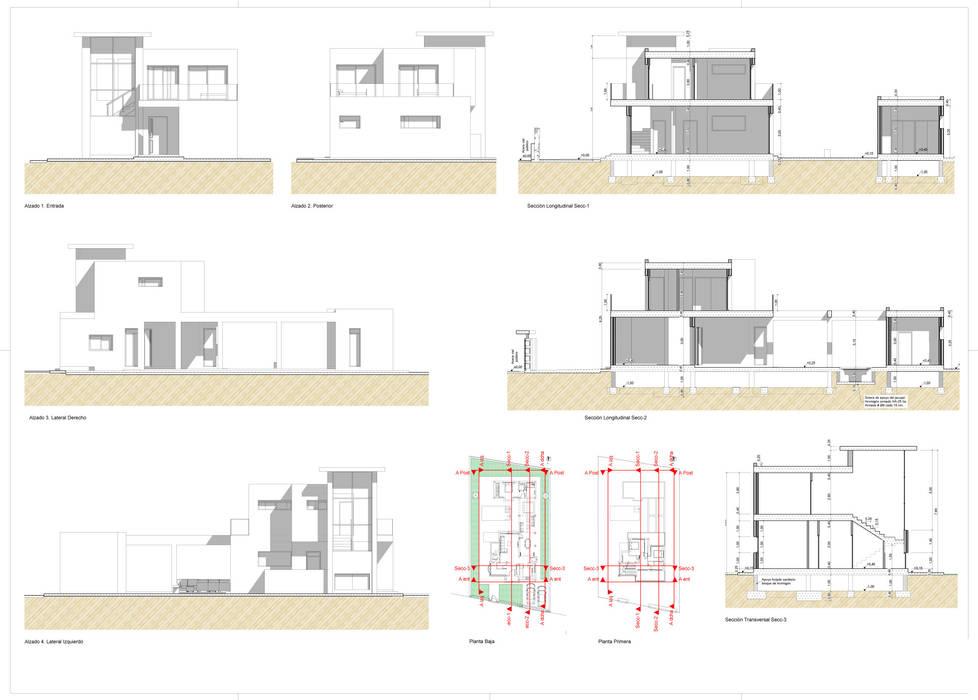 Casas multifamiliares de estilo  por Pacheco & Asociados