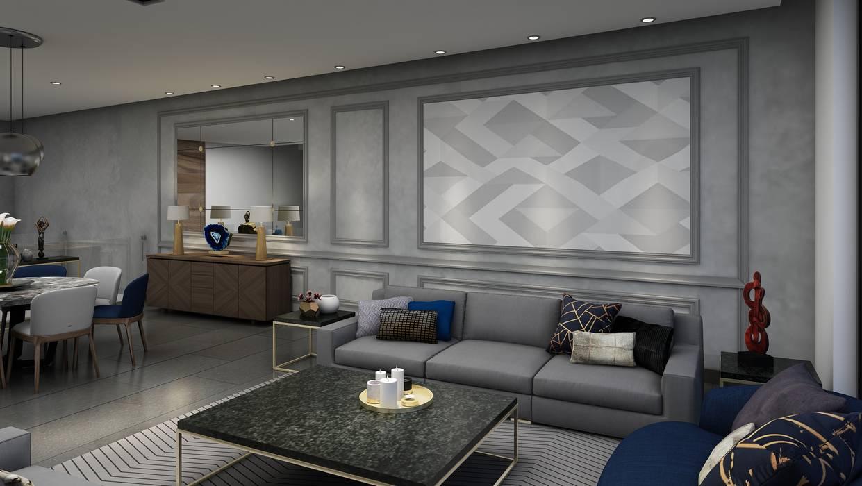 Phòng khách phong cách chiết trung bởi Álzar Chiết trung Đá hoa cương