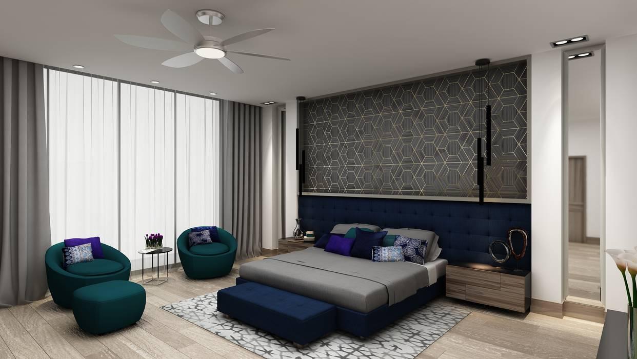 Bedroom by Álzar, Eclectic Wood Wood effect