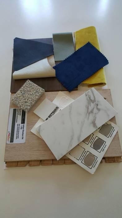 Concept material board by Deborah Garth Interior Design International (Pty)Ltd Modern Quartz