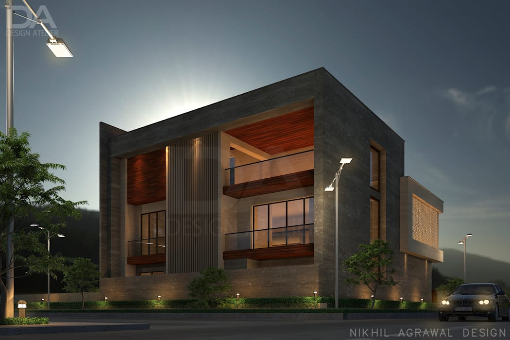 Bungalow in beawar(rajasthan,in)- exterior elevation and facades