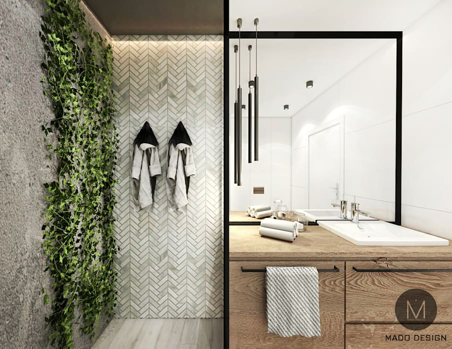 ŁAZIENKA KRAKÓW: styl , w kategorii Łazienka zaprojektowany przez MADO DESIGN