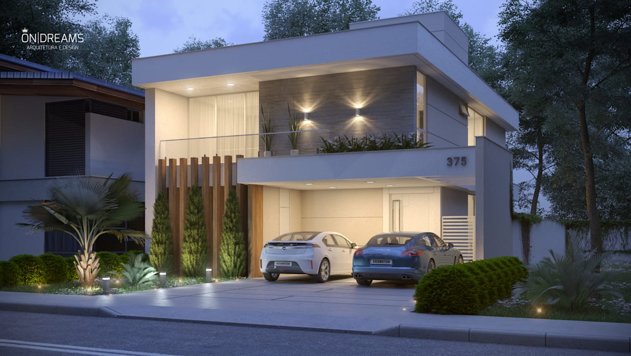 Residência FS por Danilo Medeiros Arquitetura + Design Moderno Pedra